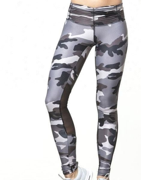Wholesale Camo Print Paneled Sublimated Leggings Manufacturers