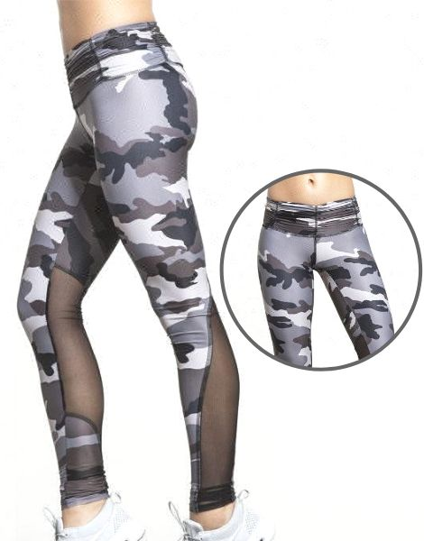 Wholesale Camo Print Paneled Sublimated Leggings Manufacturers USA
