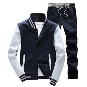 Wholesale Navy Blue Varsity Jacket and Track Pant