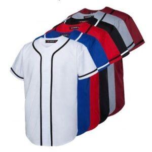 bulk custom blank baseball jersey