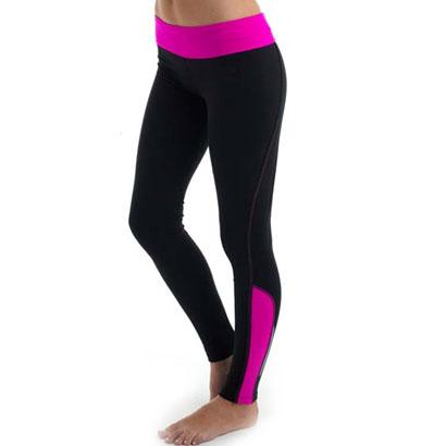 Pink Frilled Black Workout Wear Wholesale