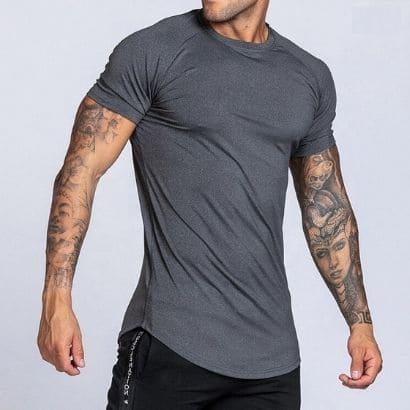 bulk polyester spandex t-shirt