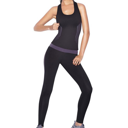 Black Fitted Yoga Wear Wholesale