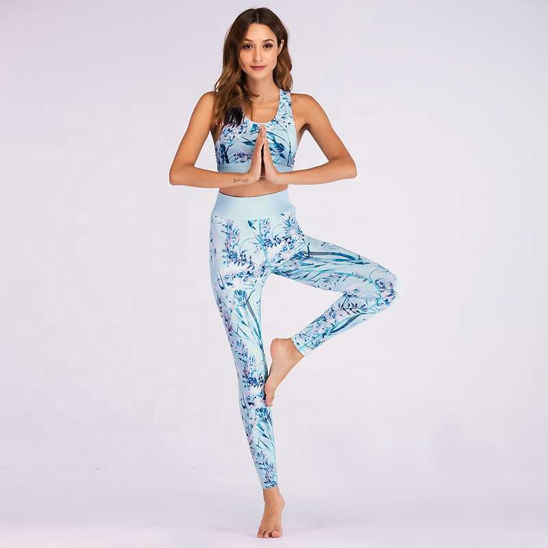 floral print yoga clothing sets