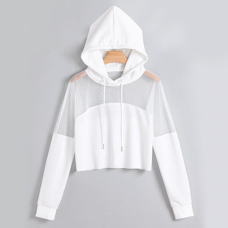 wholesale mesh hooded pullover