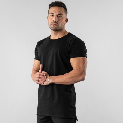 wholesale Black Workout T-shirt For Men