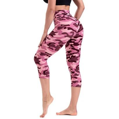 bulk custom women plus size-high-waist-buttery soft pattern capris pants