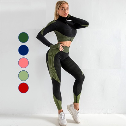 long sleeve active wear set-for-women all colors supplier