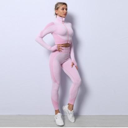 long sleeve purple active-wear-set for women wholesale
