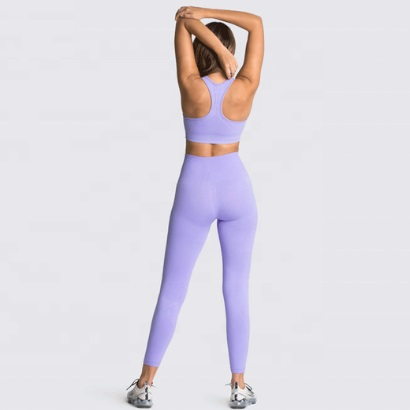 wholesale violet sports bra and leggings manufacturer
