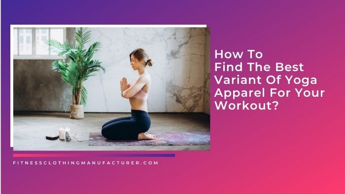 wholesale yoga clothing manufacturers