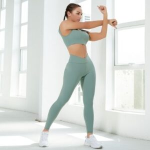 bulk soft fabric activewear sport bra and leggings