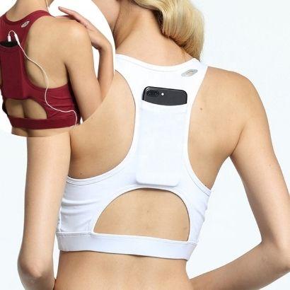 bulk compression sports bra with pocket