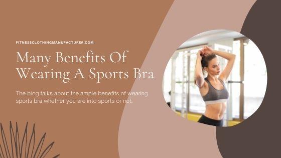 benefits of sports bra